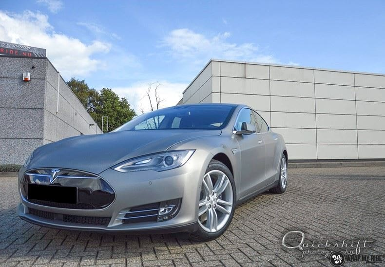 Tesla model S, Carwrapping door Wrapmyride.nu Foto-nr:8966, ©2020