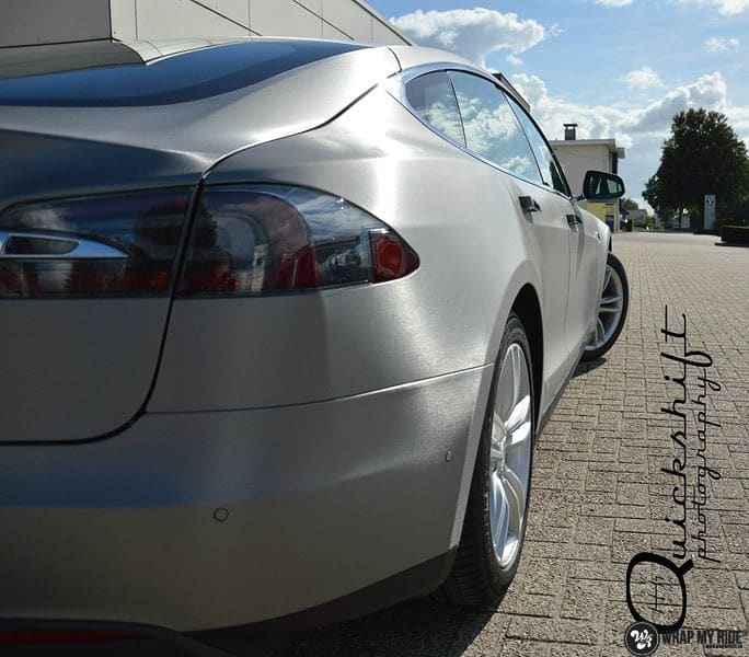 Tesla model S, Carwrapping door Wrapmyride.nu Foto-nr:8965, ©2021