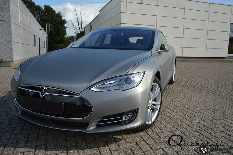 Tesla model S, Carwrapping door Wrapmyride.nu Foto-nr:8964, ©2020