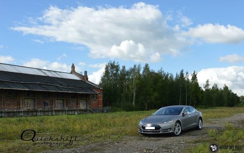 Tesla model S, Carwrapping door Wrapmyride.nu Foto-nr:8963, ©2020