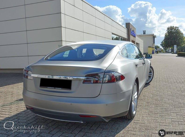 Tesla model S, Carwrapping door Wrapmyride.nu Foto-nr:8961, ©2021