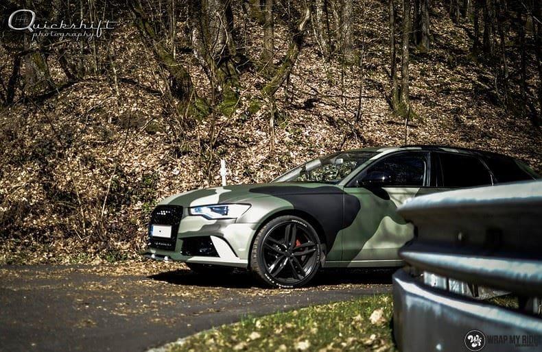 Audi A6 Camo style, Carwrapping door Wrapmyride.nu Foto-nr:9694, ©2020