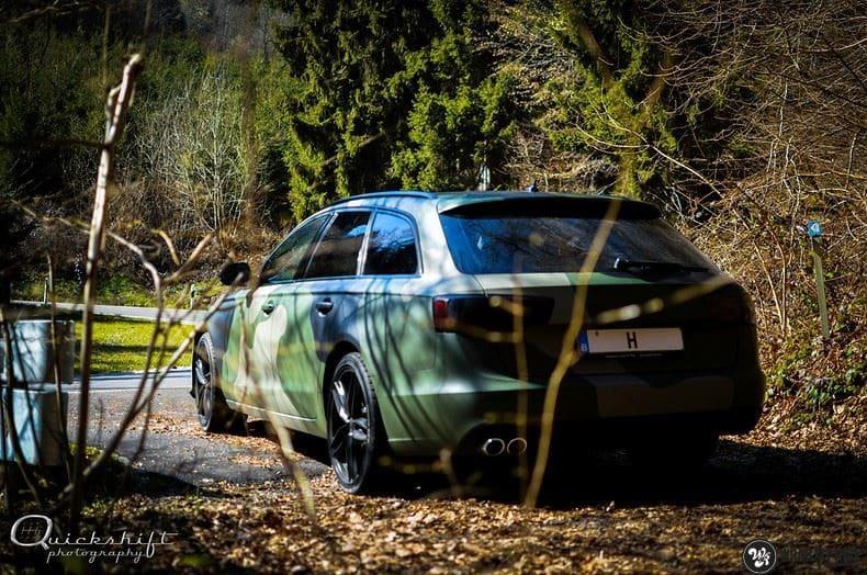 Audi A6 Camo style, Carwrapping door Wrapmyride.nu Foto-nr:9693, ©2020