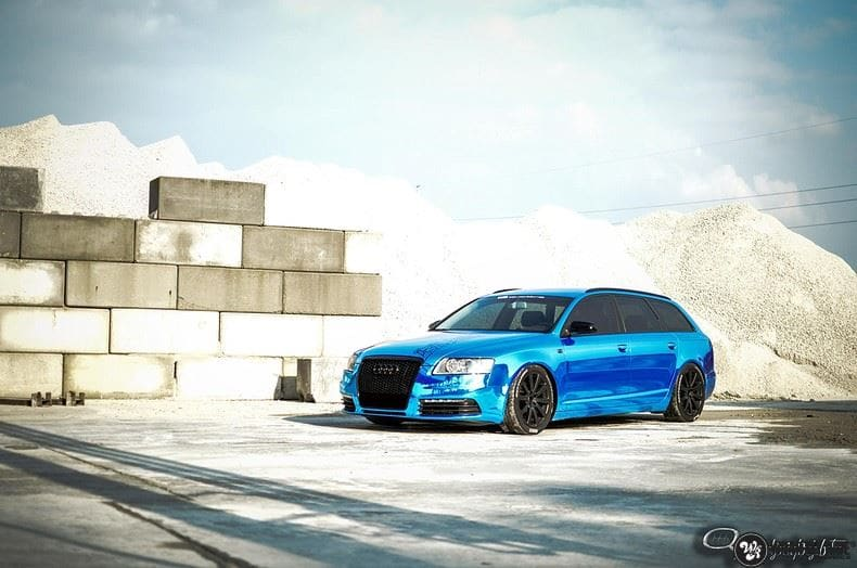 Audi A6 Bleu Chrome, Carwrapping door Wrapmyride.nu Foto-nr:9745, ©2021
