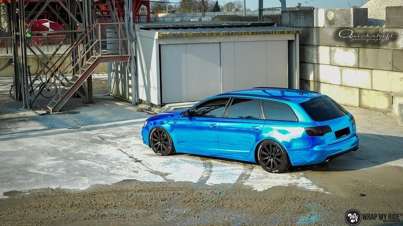 Audi A6 Bleu Chrome, Carwrapping door Wrapmyride.nu Foto-nr:9747, ©2018