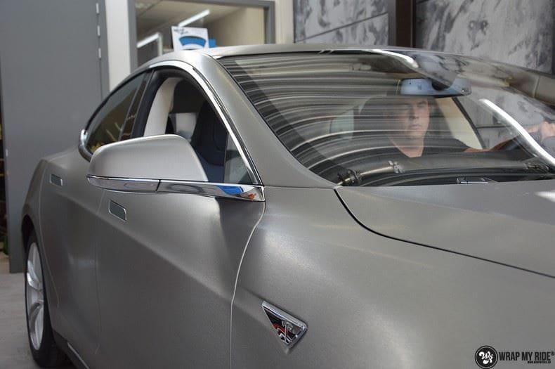 Tesla model S, Carwrapping door Wrapmyride.nu Foto-nr:8958, ©2021