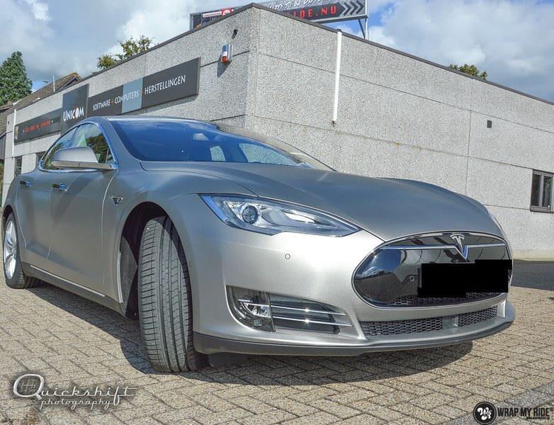 Tesla model S, Carwrapping door Wrapmyride.nu Foto-nr:8956, ©2021