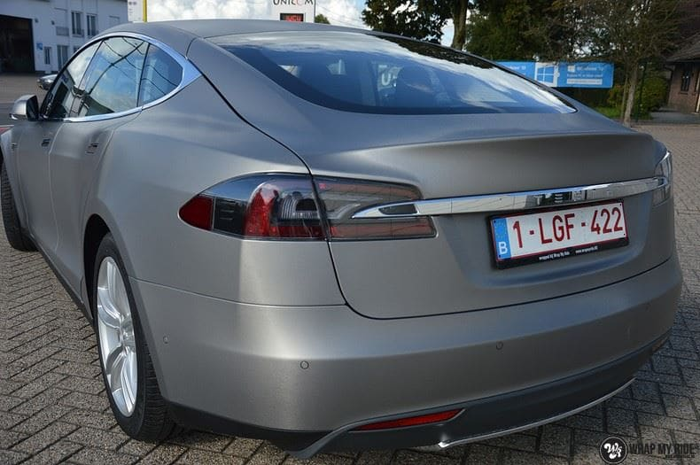 Tesla model S, Carwrapping door Wrapmyride.nu Foto-nr:8948, ©2020