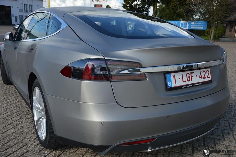 Tesla model S, Carwrapping door Wrapmyride.nu Foto-nr:8948, ©2021