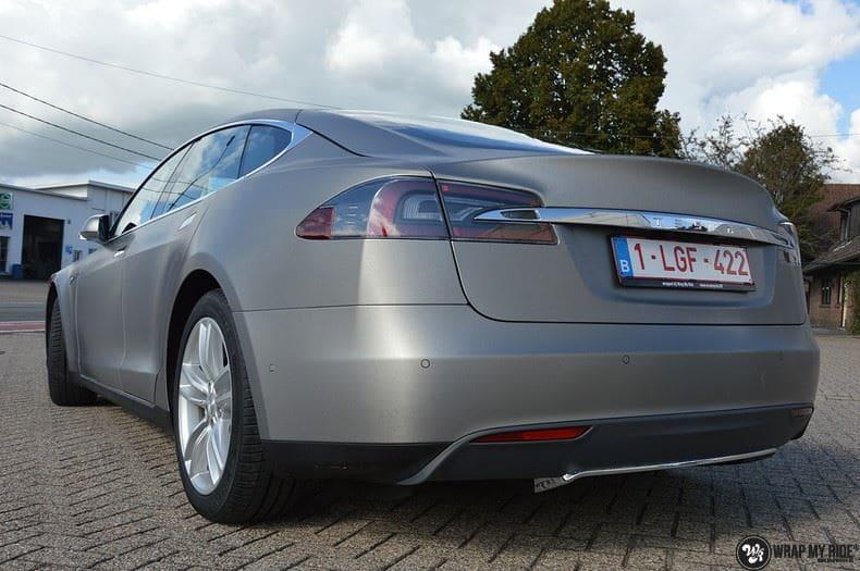 Tesla model S, Carwrapping door Wrapmyride.nu Foto-nr:8947, ©2021
