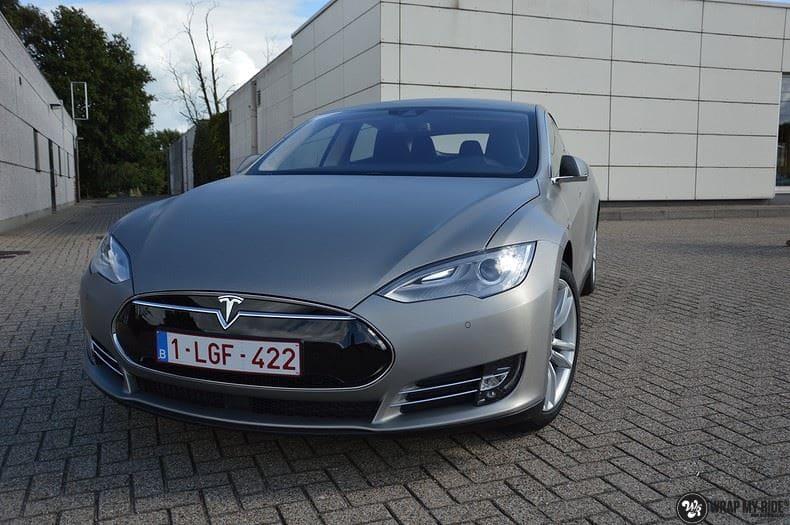 Tesla model S, Carwrapping door Wrapmyride.nu Foto-nr:8946, ©2021