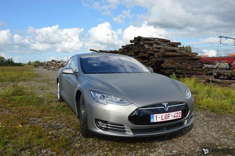 Tesla model S, Carwrapping door Wrapmyride.nu Foto-nr:8939, ©2020