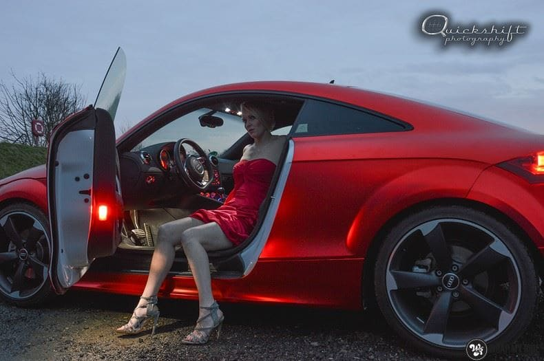 Audi TTS matte red chrome, Carwrapping door Wrapmyride.nu Foto-nr:8861, ©2020