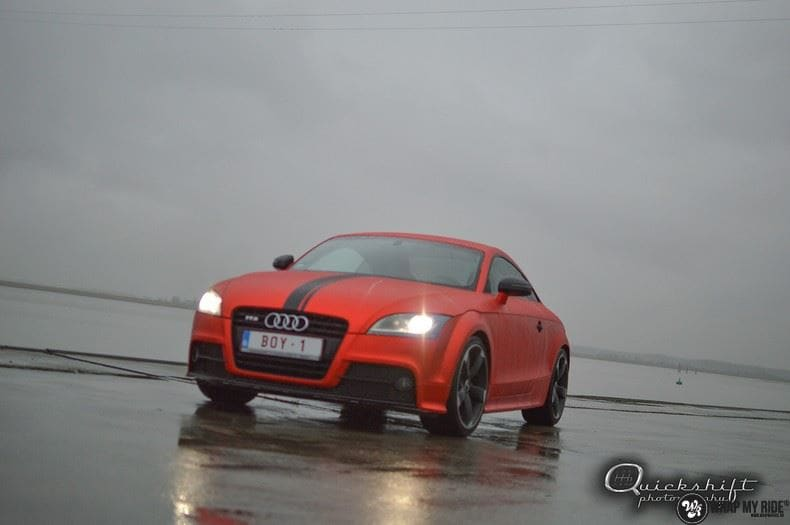 Audi TTS matte red chrome, Carwrapping door Wrapmyride.nu Foto-nr:8865, ©2020