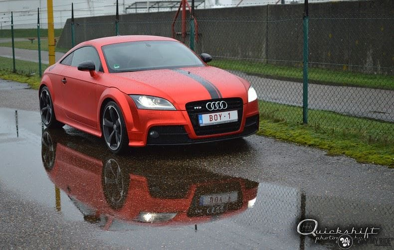 Audi TTS matte red chrome, Carwrapping door Wrapmyride.nu Foto-nr:8866, ©2020