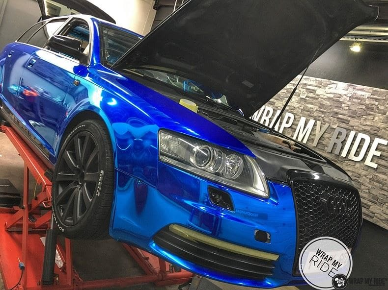 Audi A6 Bleu Chrome, Carwrapping door Wrapmyride.nu Foto-nr:9748, ©2018