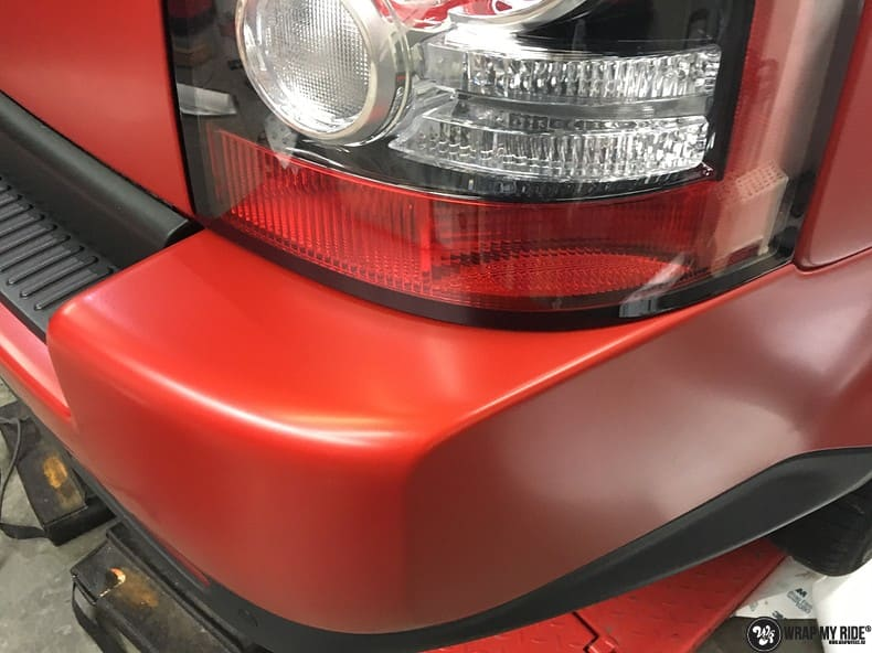 Range Rover Sport in Smoldering Satin Red, Carwrapping door Wrapmyride.nu Foto-nr:10325, ©2020