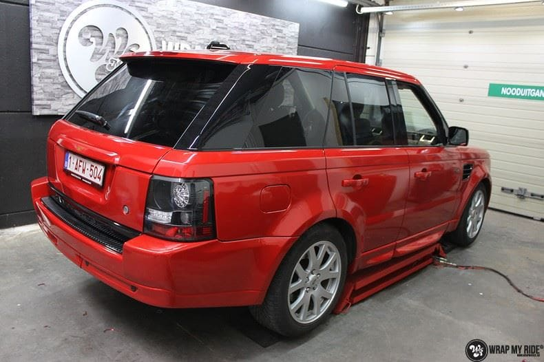 Range Rover Sport Dragon Fire Red, Carwrapping door Wrapmyride.nu Foto-nr:9849, ©2020