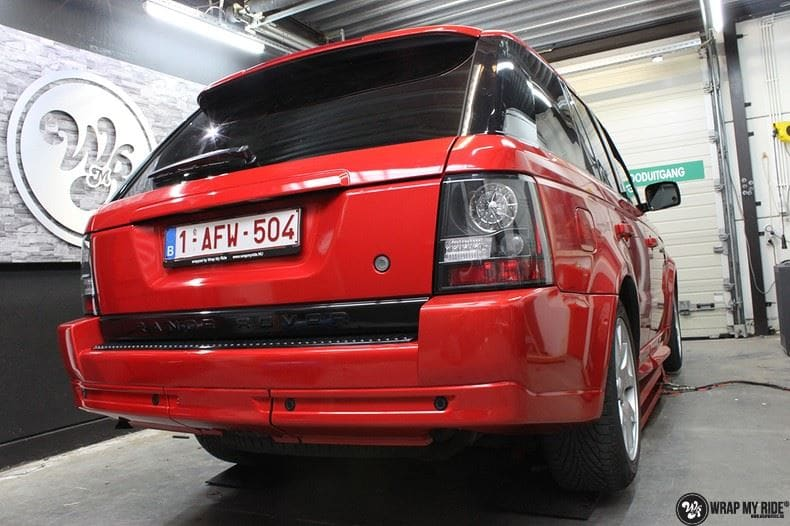 Range Rover Sport Dragon Fire Red, Carwrapping door Wrapmyride.nu Foto-nr:9843, ©2020
