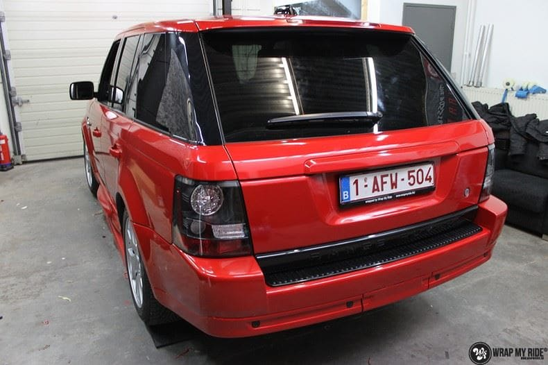 Range Rover Sport Dragon Fire Red, Carwrapping door Wrapmyride.nu Foto-nr:9841, ©2021