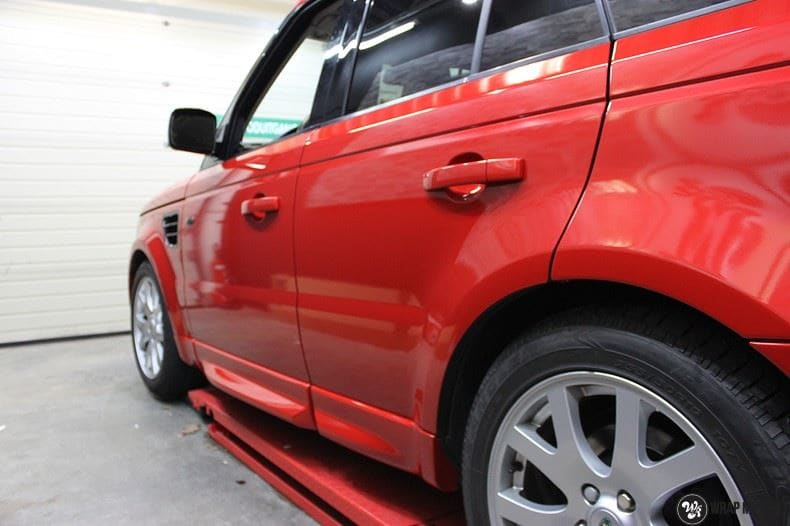 Range Rover Sport Dragon Fire Red, Carwrapping door Wrapmyride.nu Foto-nr:9839, ©2021