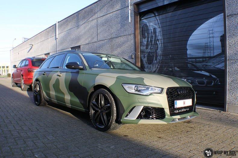 Audi A6 Camo style, Carwrapping door Wrapmyride.nu Foto-nr:9691, ©2020