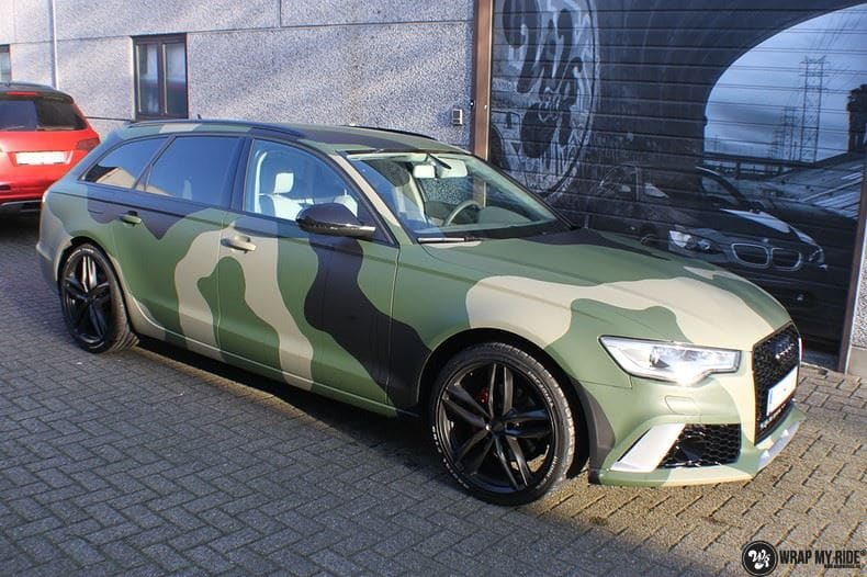 Audi A6 Camo style, Carwrapping door Wrapmyride.nu Foto-nr:9690, ©2020