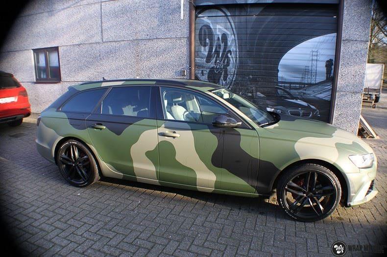 Audi A6 Camo style, Carwrapping door Wrapmyride.nu Foto-nr:9689, ©2020
