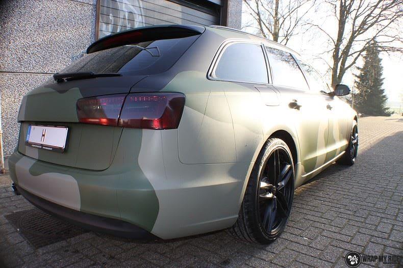Audi A6 Camo style, Carwrapping door Wrapmyride.nu Foto-nr:9688, ©2020