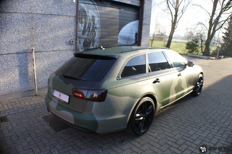 Audi A6 Camo style, Carwrapping door Wrapmyride.nu Foto-nr:9687, ©2020