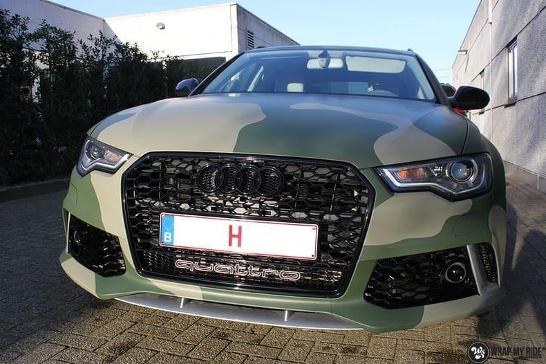 Audi A6 Camo style, Carwrapping door Wrapmyride.nu Foto-nr:9684, ©2020