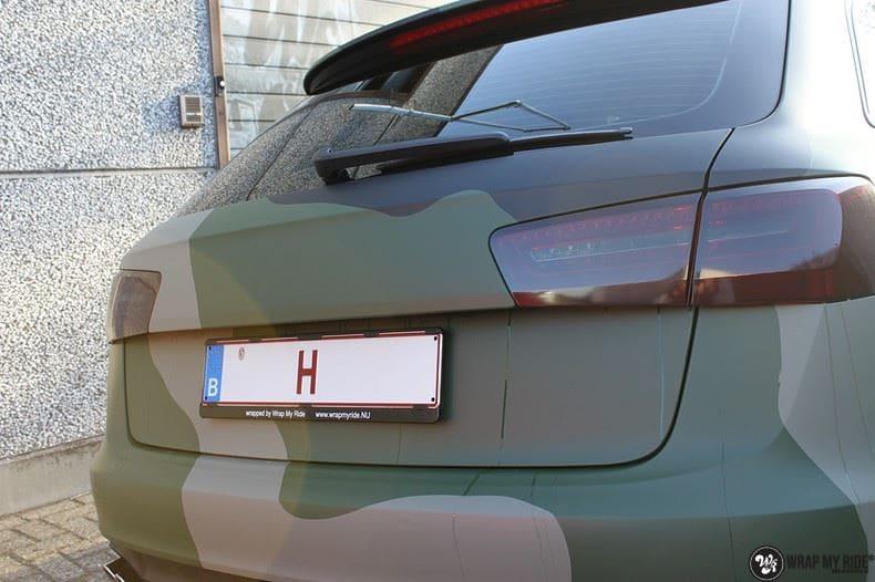 Audi A6 Camo style, Carwrapping door Wrapmyride.nu Foto-nr:9682, ©2020