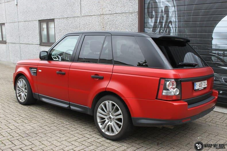 Range Rover Sport in Smoldering Satin Red, Carwrapping door Wrapmyride.nu Foto-nr:10315, ©2020