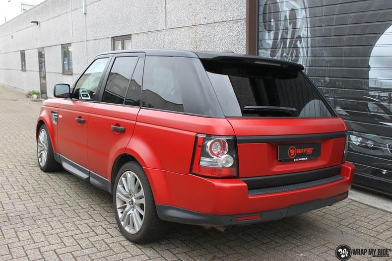 Range Rover Sport in Smoldering Satin Red, Carwrapping door Wrapmyride.nu Foto-nr:10314, ©2020