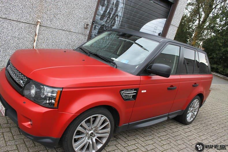 Range Rover Sport in Smoldering Satin Red, Carwrapping door Wrapmyride.nu Foto-nr:10313, ©2020