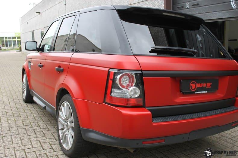 Range Rover Sport in Smoldering Satin Red, Carwrapping door Wrapmyride.nu Foto-nr:10310, ©2020