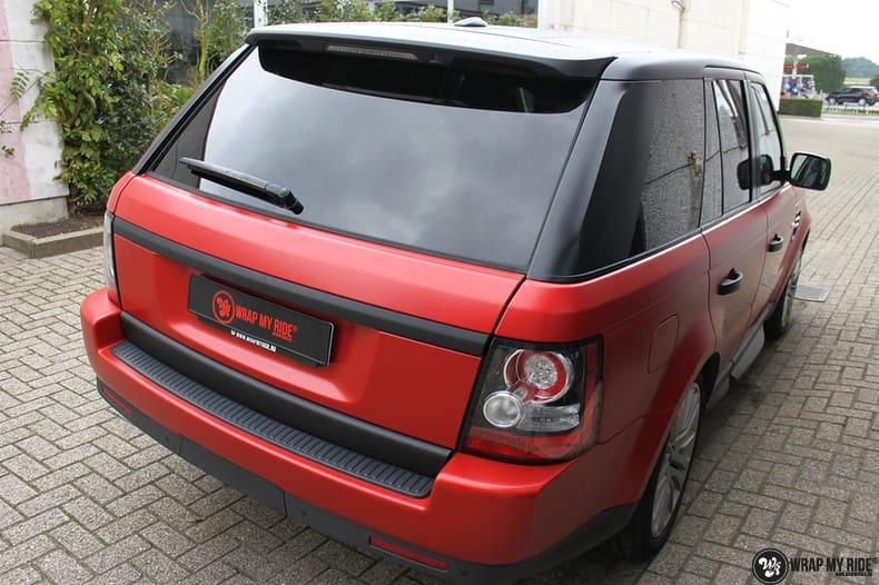 Range Rover Sport in Smoldering Satin Red, Carwrapping door Wrapmyride.nu Foto-nr:10309, ©2020