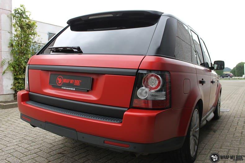 Range Rover Sport in Smoldering Satin Red, Carwrapping door Wrapmyride.nu Foto-nr:10308, ©2020