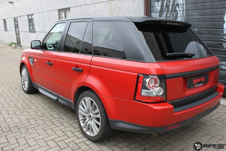 Range Rover Sport in Smoldering Satin Red, Carwrapping door Wrapmyride.nu Foto-nr:10305, ©2020