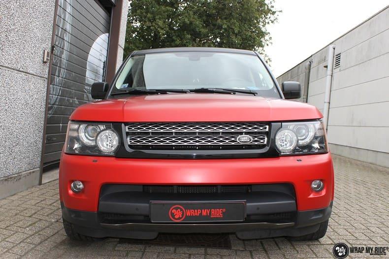 Range Rover Sport in Smoldering Satin Red, Carwrapping door Wrapmyride.nu Foto-nr:10304, ©2020