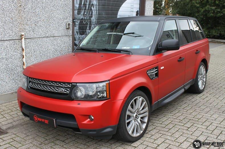 Range Rover Sport in Smoldering Satin Red, Carwrapping door Wrapmyride.nu Foto-nr:10302, ©2020