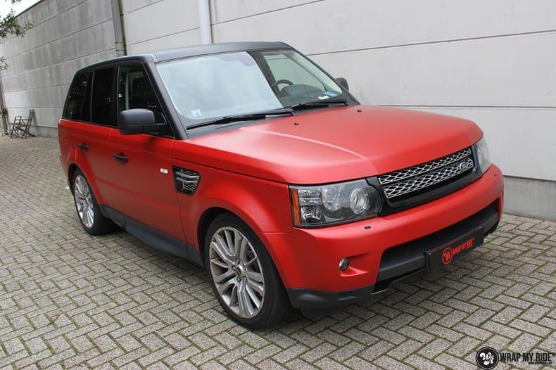 Range Rover Sport in Smoldering Satin Red, Carwrapping door Wrapmyride.nu Foto-nr:10300, ©2020