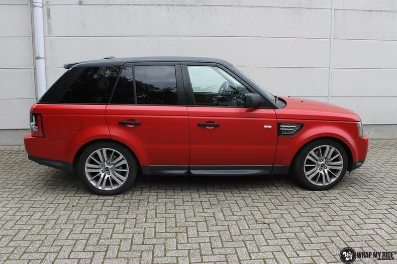 Range Rover Sport in Smoldering Satin Red, Carwrapping door Wrapmyride.nu Foto-nr:10299, ©2020