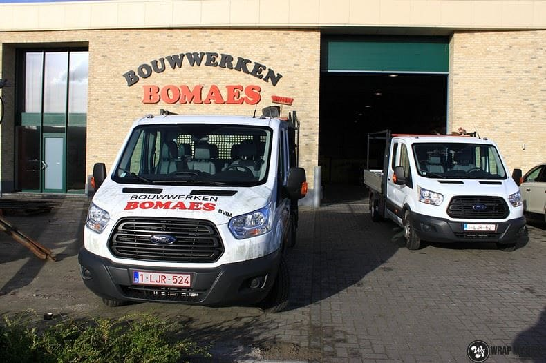 Ford Transit bedrijfswagens voor Bomaes, Carwrapping door Wrapmyride.nu Foto-nr:8672, ©2021