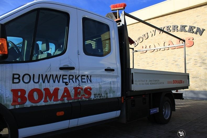 Ford Transit bedrijfswagens voor Bomaes, Carwrapping door Wrapmyride.nu Foto-nr:8668, ©2018