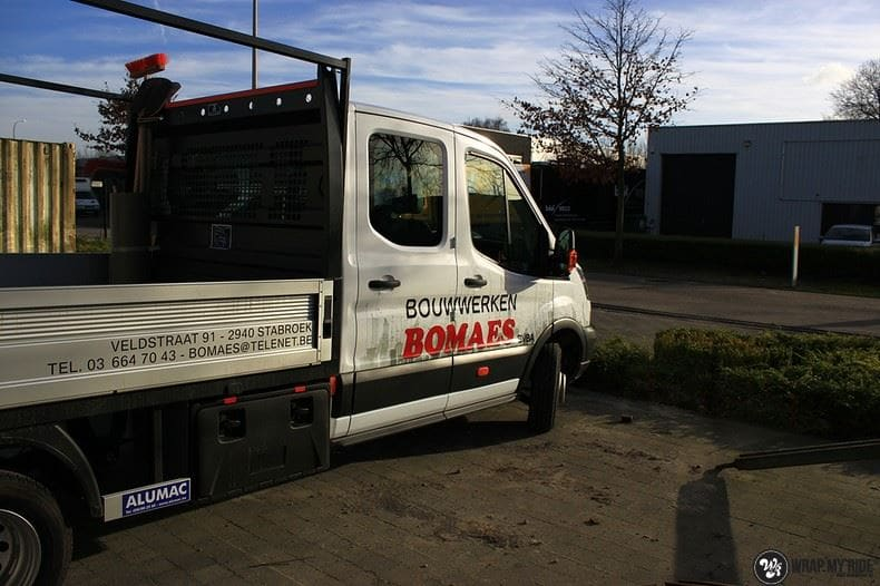 Ford Transit bedrijfswagens voor Bomaes, Carwrapping door Wrapmyride.nu Foto-nr:8666, ©2018