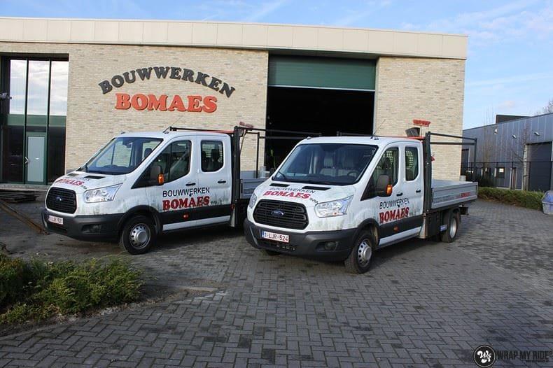 Ford Transit bedrijfswagens voor Bomaes, Carwrapping door Wrapmyride.nu Foto-nr:8663, ©2020