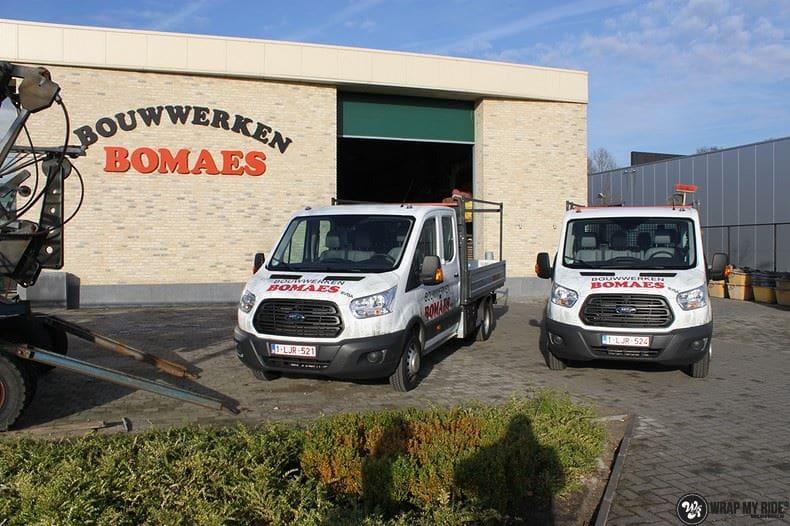 Ford Transit bedrijfswagens voor Bomaes, Carwrapping door Wrapmyride.nu Foto-nr:8661, ©2018