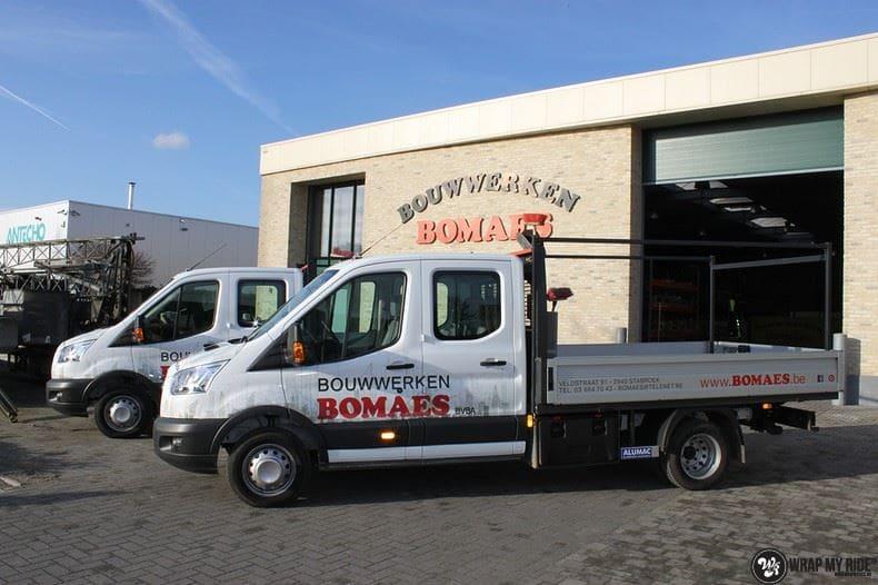 Ford Transit bedrijfswagens voor Bomaes, Carwrapping door Wrapmyride.nu Foto-nr:8659, ©2021