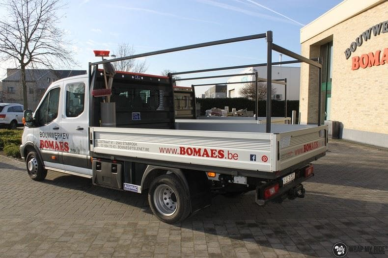 Ford Transit bedrijfswagens voor Bomaes, Carwrapping door Wrapmyride.nu Foto-nr:8658, ©2018